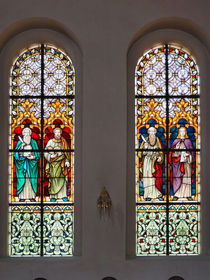 Kirchenfenster vier Evangelisten, Church window four Evangelists von Sabine Radtke