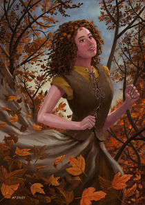 Spirit of Autumn Woman by Martin  Davey