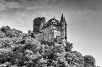 Burg Katz - sw by Erhard Hess