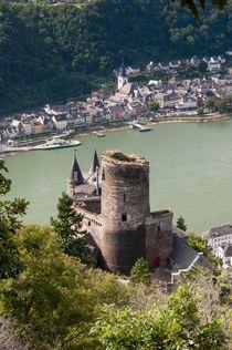 St.Goar mit Burg Katz von Erhard Hess