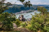 St.Goar(shausen) mit Burg Katz und Rheinfels von Erhard Hess