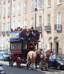 Horse Tram, Mount St. Dublin Ireland von irish-prints