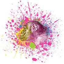Schimpanse - Klecks-Tier / Chimpanzee Splatter Animal by morn