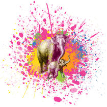 Elefant - Klecks-Tier / Elephant Splatter Animal by morn