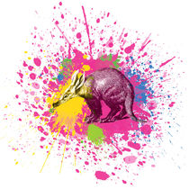 Erdferkel - Klecks-Tier / Aardvark Splatter Animal von morn