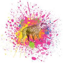 Hyäne - Klecks-Tier / Hyena Splatter Animal by morn