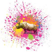 Nashorn - Klecks-Tier / Rhino Splatter Animal by morn