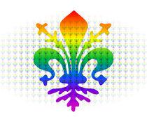 Rainbow Fleur-de-lis von Ricardo de Almeida