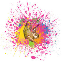 Faultier - Klecks-Tier / Sloth Splatter Animal by morn