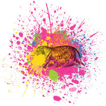 Tiger - Klecks-Tier / Tiger Splatter Animal by morn