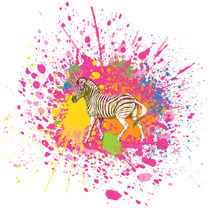 Zebra - Klecks-Tier / Zebra Splatter Animal von morn
