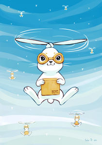 Postal Bunny von freeminds