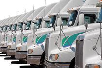 Eine Reihe mit Lastwagen by Gunter Nezhoda