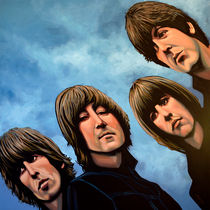 The Beatles Rubber Soul painting von Paul Meijering
