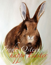 Feldhase mit Ostergruß by Sonja Jannichsen