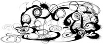 Abstract Frog Swirls And Twirls von Angela Allwine