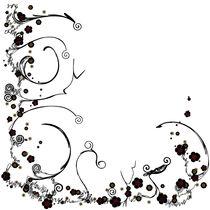 Flower Scribble Swirls And Twirls von Angela Allwine