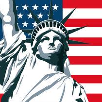 New York Statue of Liberty - Pop Art von Gaby Jungkeit
