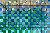Collage in grün und blau von Martin Uda