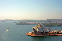 Sydney Opera House from Harbour Bridge by Jörg Sobottka
