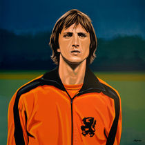 Johan Cruyff Oranje painting by Paul Meijering