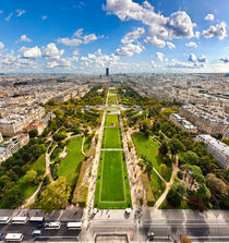 Aerial view on Champ de Mars by creativemarc