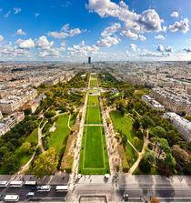 Aerial view on Champ de Mars von creativemarc