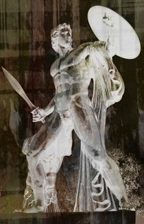 White ghost of a warrior. by Luigi Petro