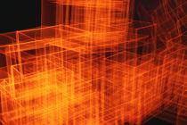 dynamic shapes of orange squares by lightart