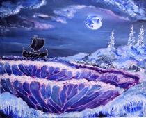 Mystic moon landscape von Alexey Konovalenko