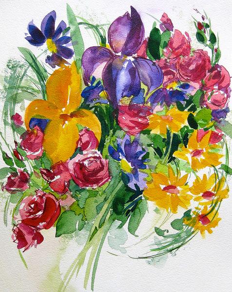 Malen-am-meer-blumenstrauss-iris-aquarell-sonja-jannichsen-01