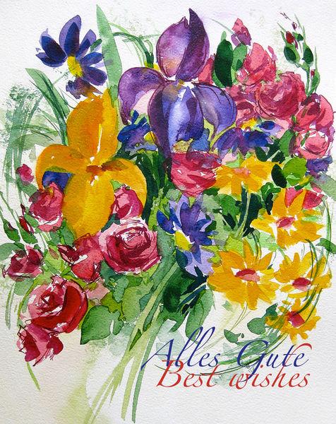 Malen-am-meer-blumenstrauss-iris-aquarell-sonja-jannichsen-mit-text