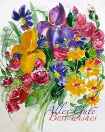 Alles Gute- Blumenstrauß von Sonja Jannichsen