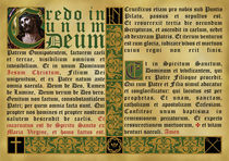Credo in Unum Deum by Alaister Lim