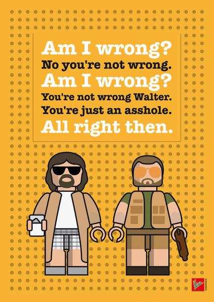 My-the-big-lebowski-lego-dialogue-poster
