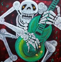 Skeleton Guitarist von Laura Barbosa