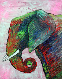 Elephant Colors by Laura Barbosa