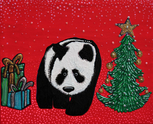 A-panda-for-christmas-by-laura-barbosa