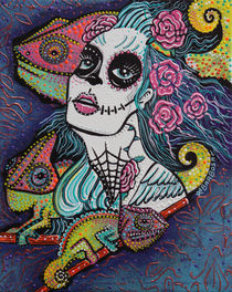 'Chameleon Sugar Skull' by Laura Barbosa