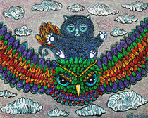 Rainbow Owl Ride von Laura Barbosa