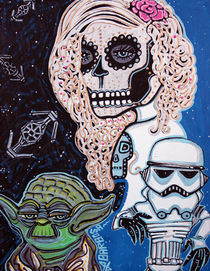 Star Wars Sugar Skull von Laura Barbosa
