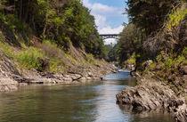 Ottauquechee River flowing through the Quechee Gorge von John Bailey