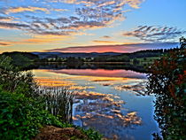 Peaceful Lake With Sunset by M.  Bleichner