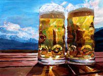 Zwei Bier mit Bergen by M.  Bleichner