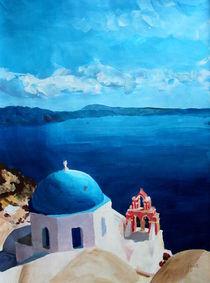Santorini, Griechenland - Blick von Oia von M.  Bleichner
