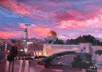 Jerusalem bei Sonnenuntergang by M.  Bleichner