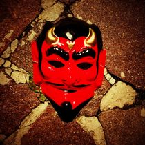 Red devil mask by mthz