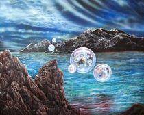 Taos Mountain With Multiverse von Sam Del Russi