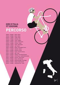 MY GIRO D ITALIA MINIMAL POSTER 2014-PERCOSO von chungkong
