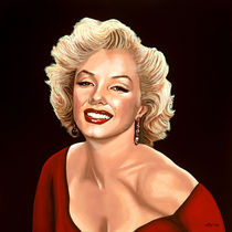 Marilyn Monroe painting 3 by Paul Meijering